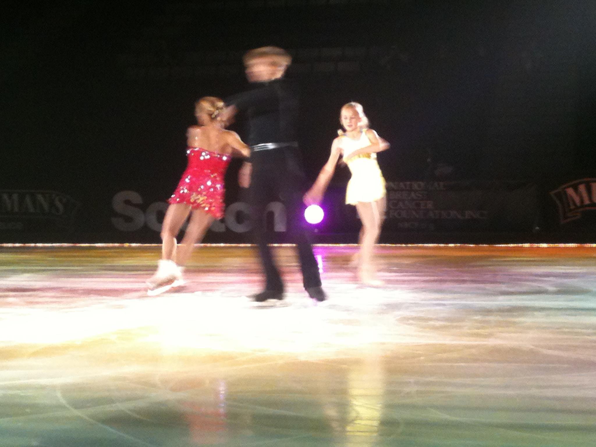 Ilia Kulik, Katia Gordeeva, and their graceful daughter