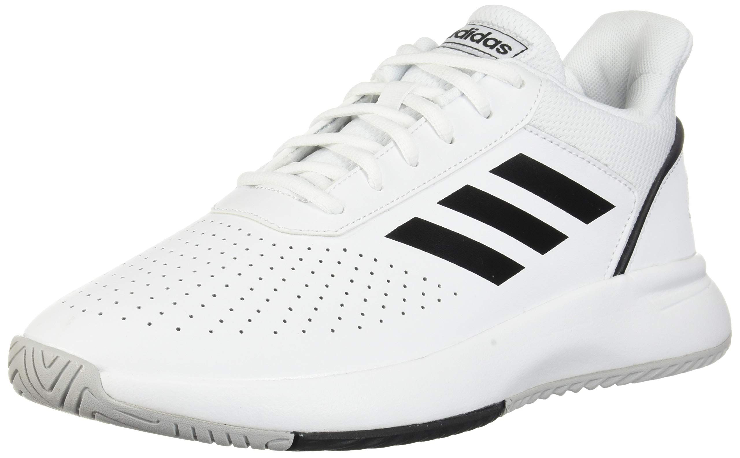 Adidas Mens Courtsmash Ankle Hig Sneakers Fashion Tennis Shoes Sneakers White