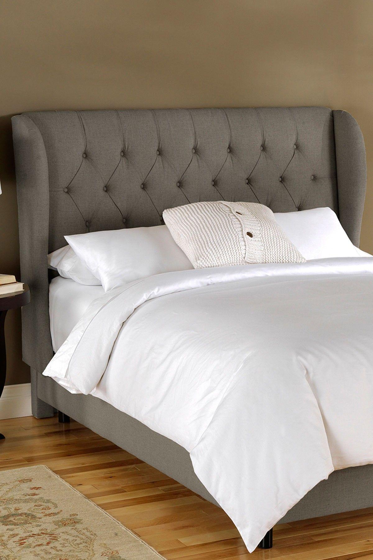 upholstered panel you grey furniture gray ll save tufted corbett headboard love headboards
