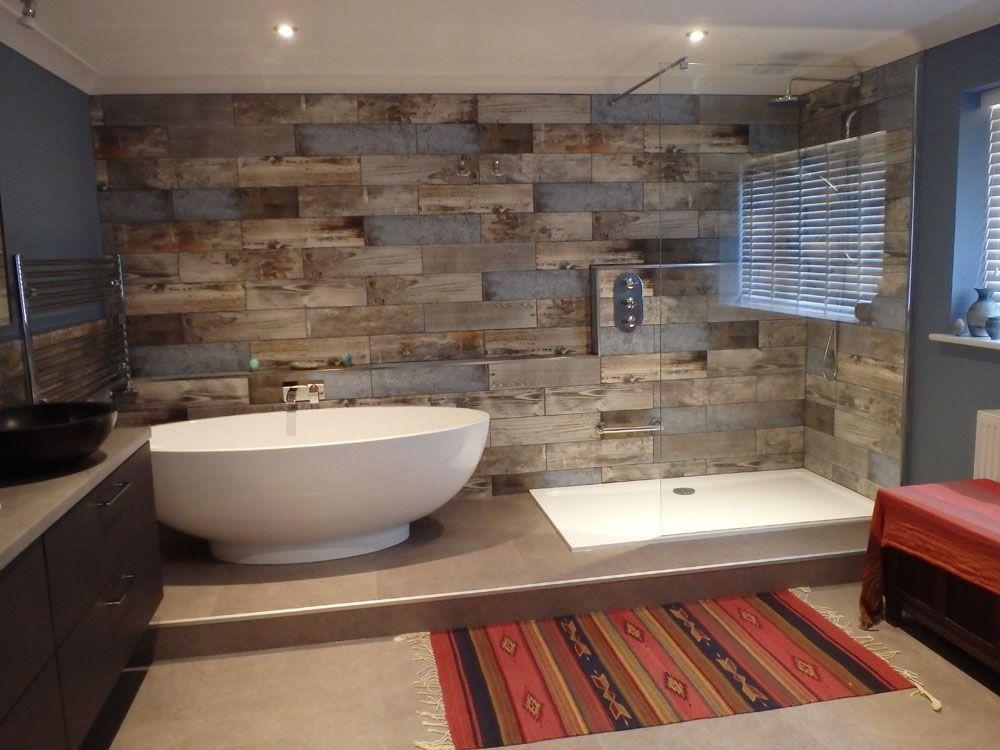 Customer Style Focus Rachel S Reclaimed Wood Bathroom Wooden Bathroom Wood Tile Shower Wood Bathroom