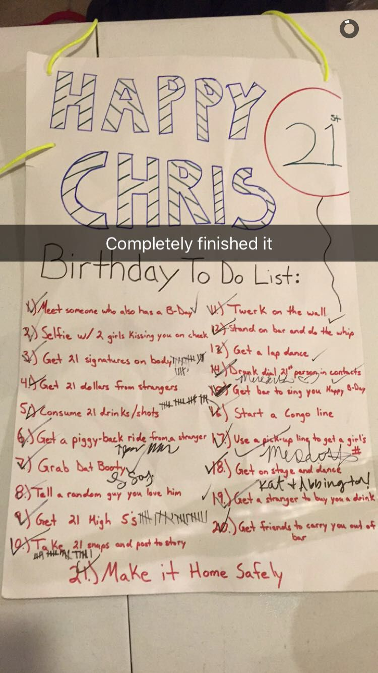 21st birthday checklist for guys … | 21st Bir…