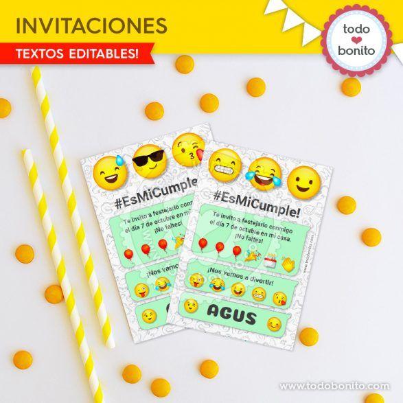 Invitaciones Tipo Mensaje De Whatsapp Invitaciones Emojis