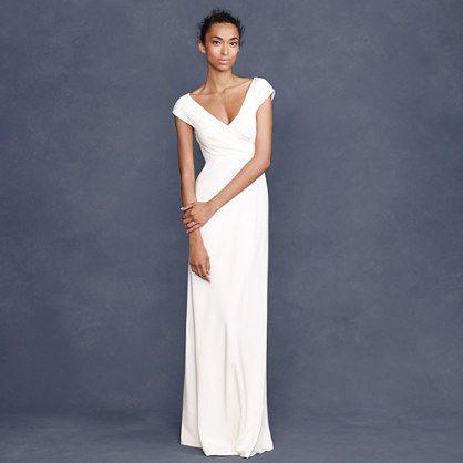 Cecelia Gown Like Neck Line Jcrew Wedding Dress Casual Wedding Dress Used Wedding Dresses