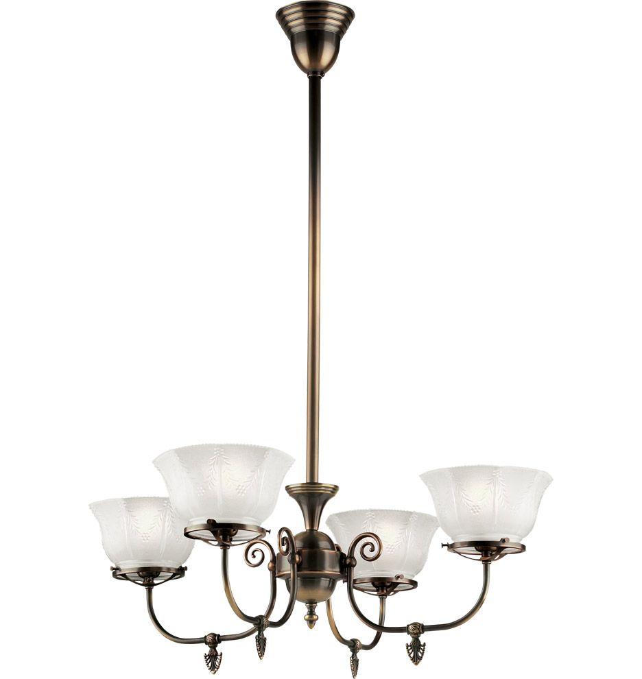 Rejuvenation Hoyt Late Victorian Gas Style Chandelier