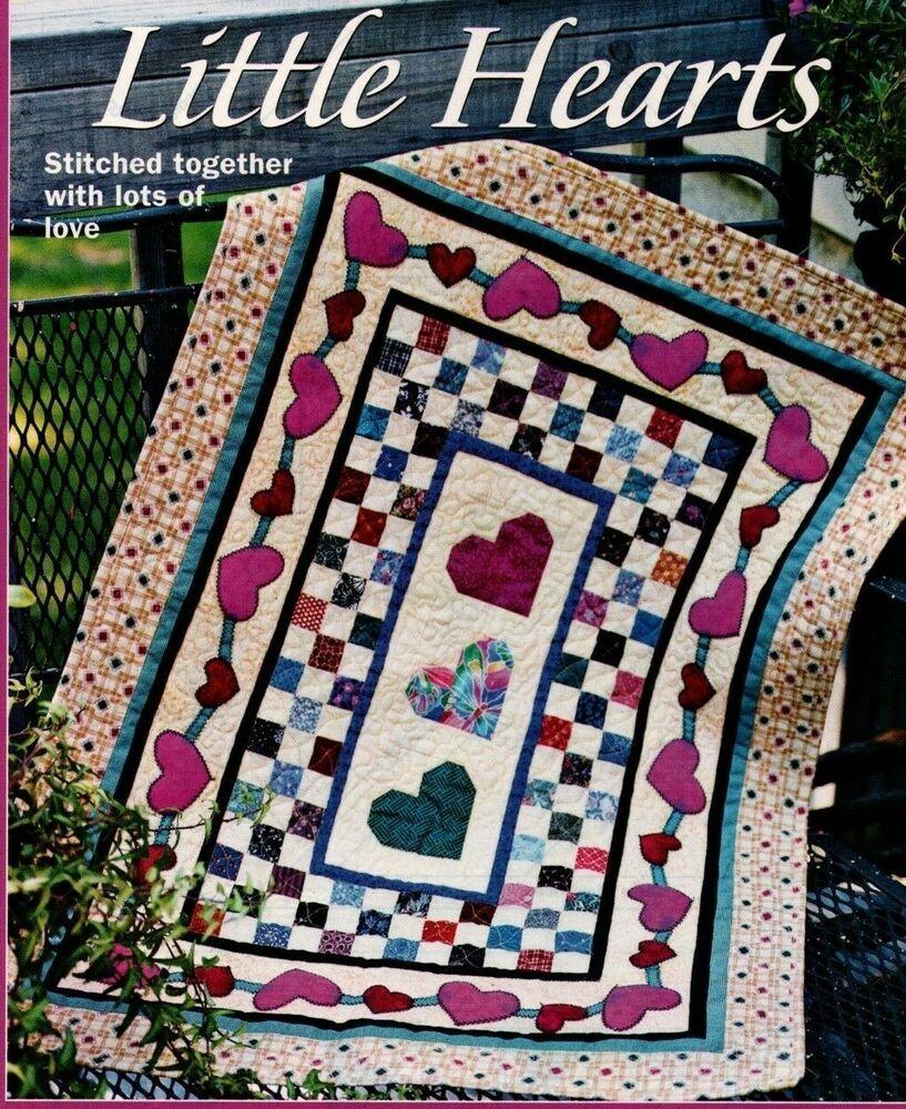 Little Hearts Quilt Pattern Pieced Paper Pieced Applique Jw Heart Quilt Pattern Heart Quilt Quilt Patterns