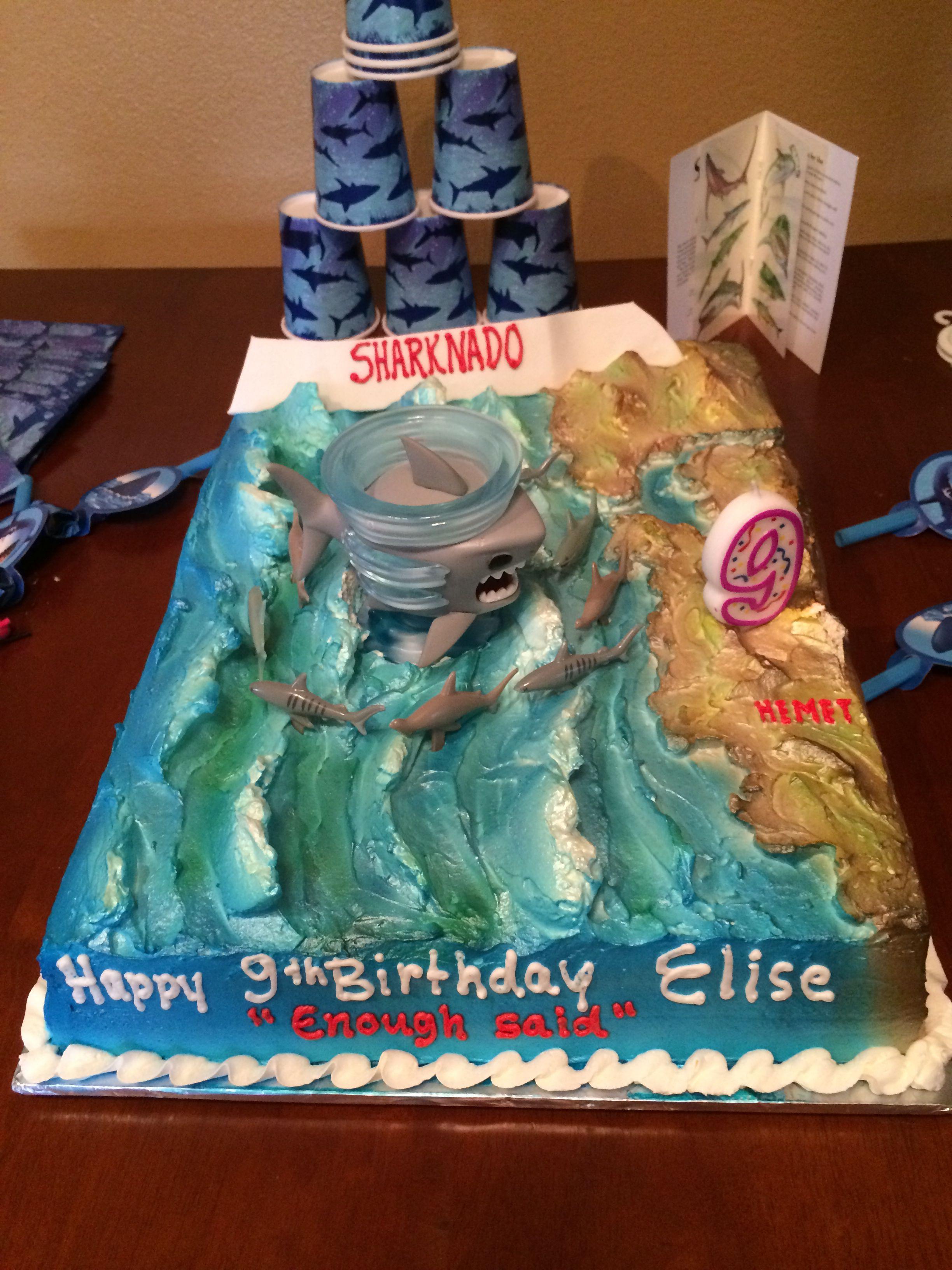 Sharknado Birthday Cake Sharknado Party Shark Cake Sharknado