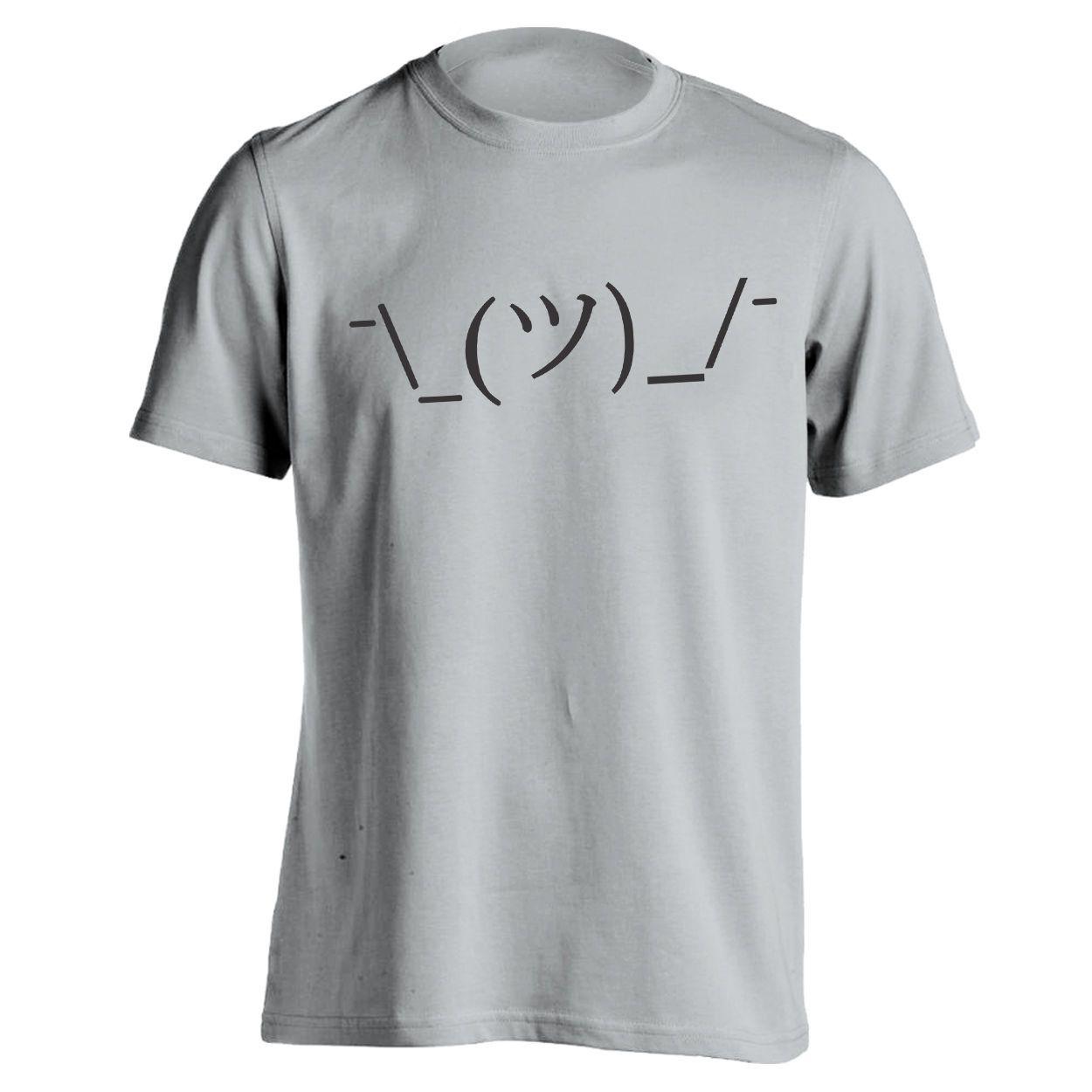 Shrug Lol Idk Face Funny  Internet  Meme  Geek Gray Basic Men/'s T-Shirt