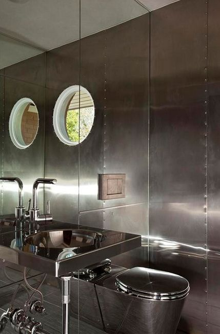Small Bathroom Secrets: How to Pick the Right Toilet - Style. Design. Innovation. steel bathroom