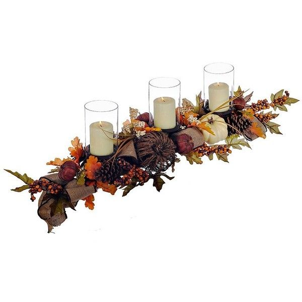 Natural Pumpkin Centerpiece ($55) ❤ liked on Polyvore featuring home, home decor, branch centerpieces, autumn home decor, fall home decor, rustic centerpieces and autumn centerpieces