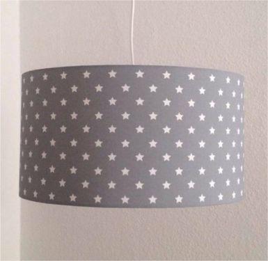 Ebay Kinderzimmer Gebraucht   Lampenschirm O 47cm Neu Grau Kleine Sterne Kinderzimmer Lampe In