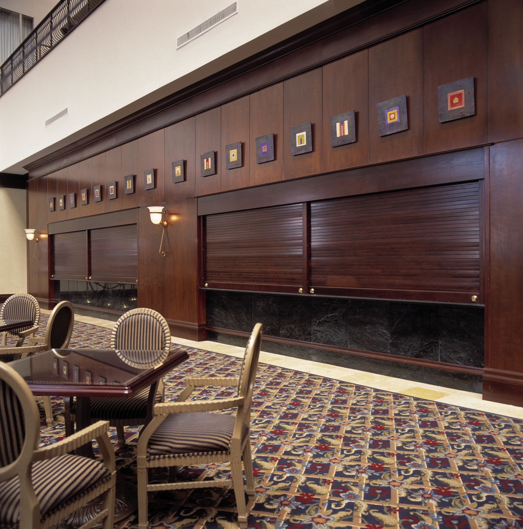 Roll up doors interior - Woodfold Roll Up Doors Look So Classy In This Space Specialtydoors Com