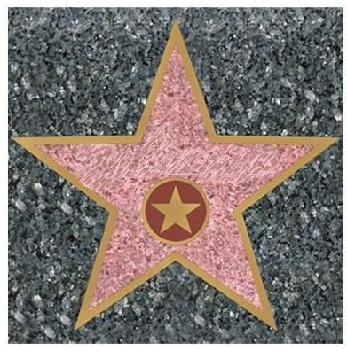 Gorgeous image inside hollywood star template printable