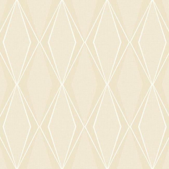 Sample Facet Wallpaper in Beige design by Stacy Garcia for