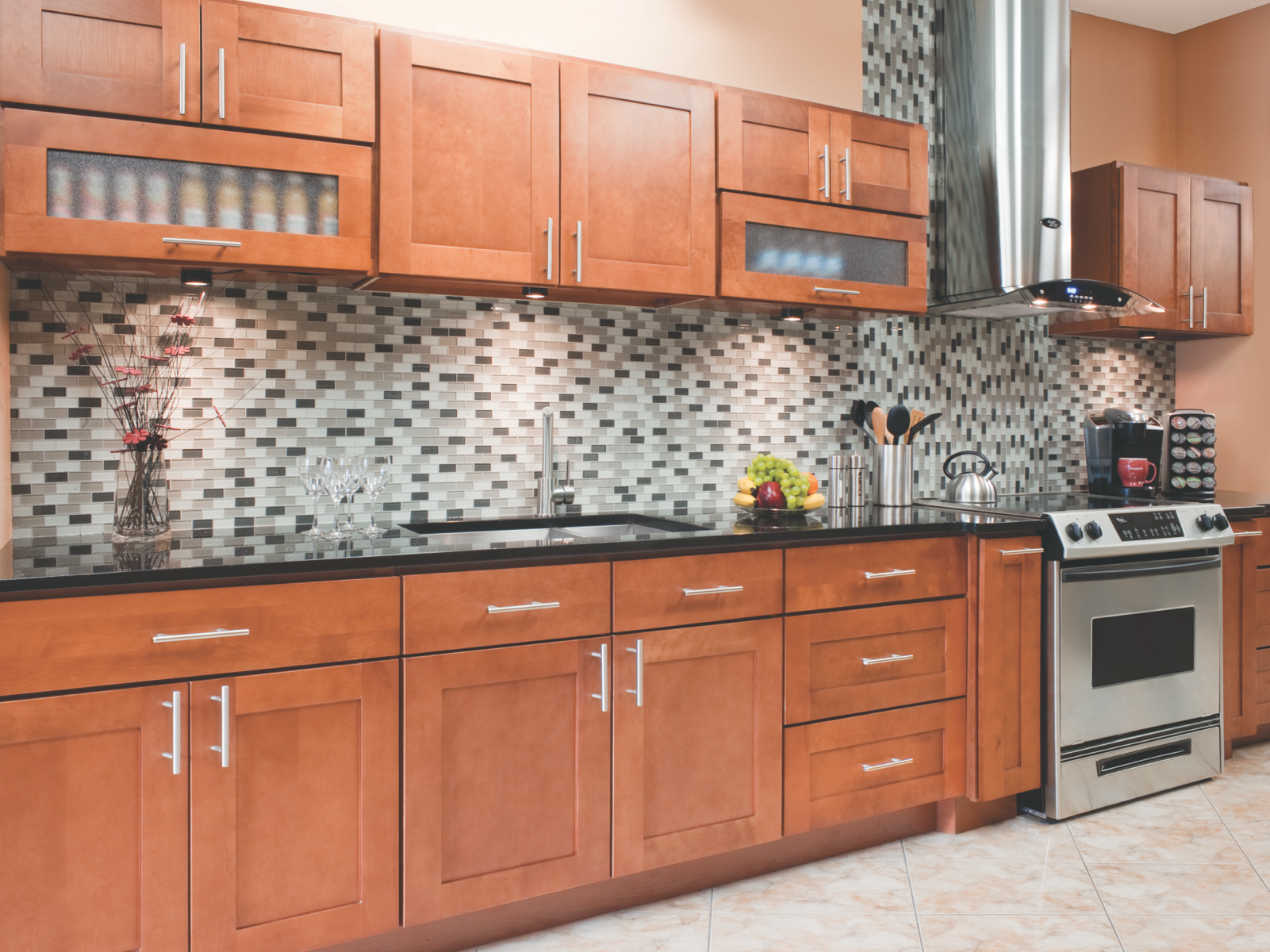 Newport Cabinetry All Wood Construction Full Overlay Maple Wood Cam Lock Assem Kitchen Cabinet Styles Used Kitchen Cabinets Solid Wood Kitchen Cabinets
