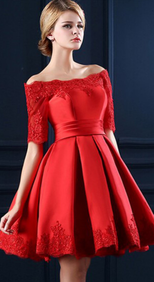 Red Short Party Dresses Juniors