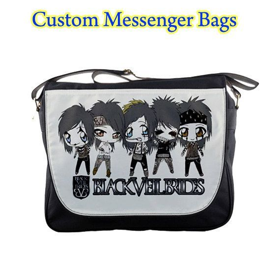 REAPER Skull Gothic School College Personalised Messenger Bag