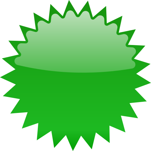 star burst blank green