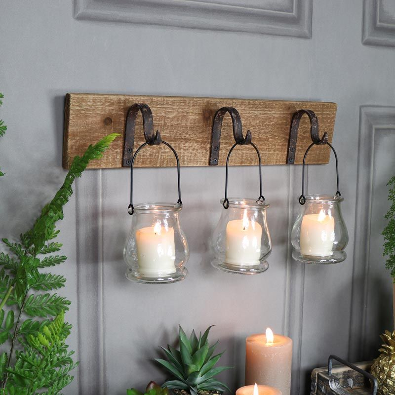Rustic Wall Mounted Hook Tealight Holder Quirky Home Decor Rustic Walls Retro Home Decor