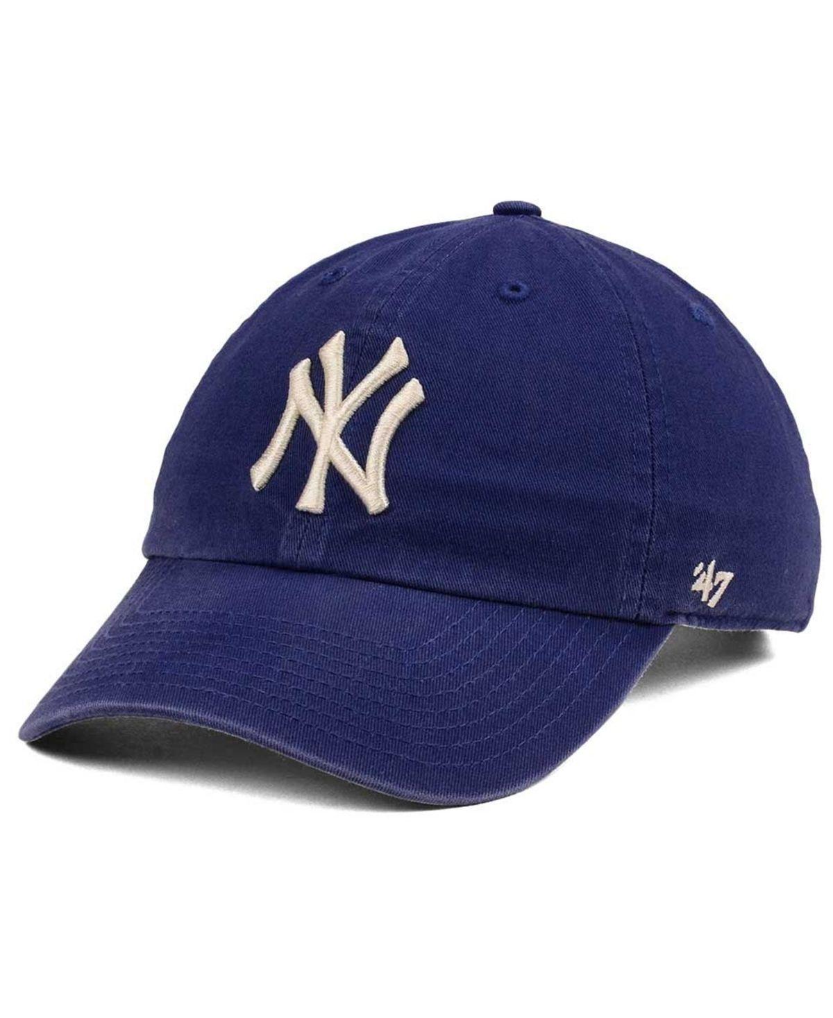 47 Brand New York Yankees Timber Blue Clean Up Cap Blue 47 Brand Trending Shoes Pumps Heels