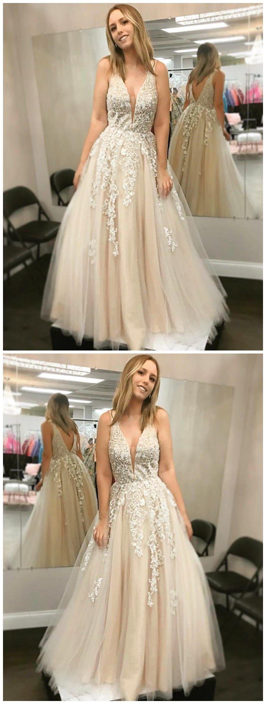 prom dress aline straps lace elegant long prom dressesevening