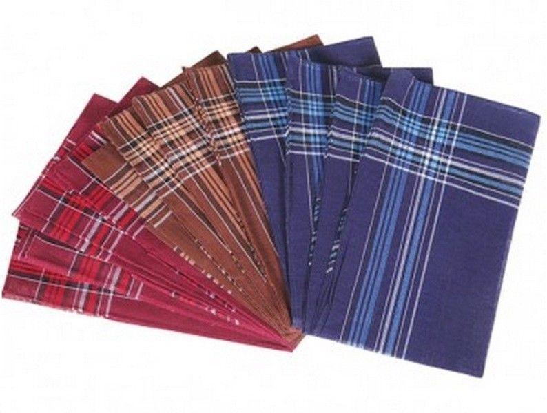 12 Pieces / 6 Pieces 40Cm X 40Cm Deep Color Classic 100% Cotton Handkerchiefs Ii