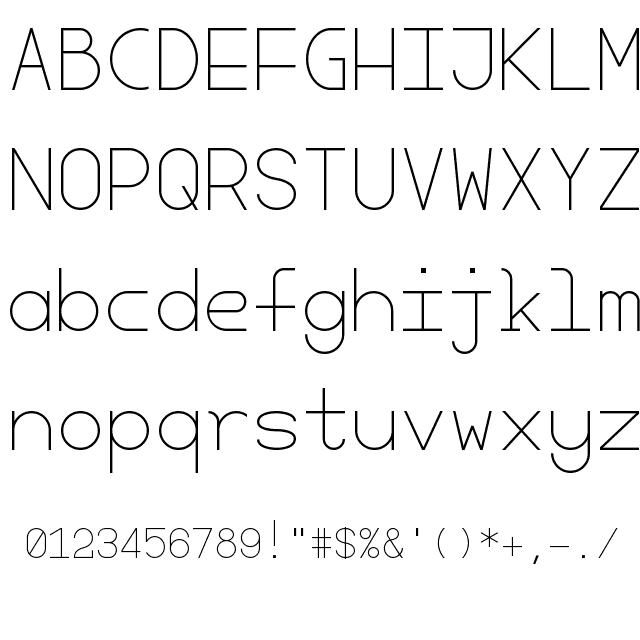 CHERRY MONOSPACE-LIGHT FONT   Fonts   Thin fonts, Light font