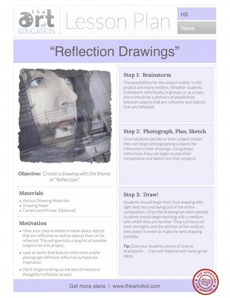 reflection drawings free lesson plan download in 2018 art