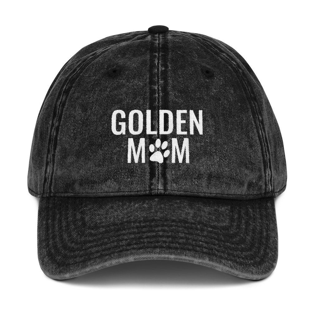 6cac67575357b0 Golden Retriever Mom Distressed Vintage Hat Dog Mom Embroidered Baseball  Hats Dog Lover Camo Dad Hat Cotton Twill Cap by EagleStyle on Etsy