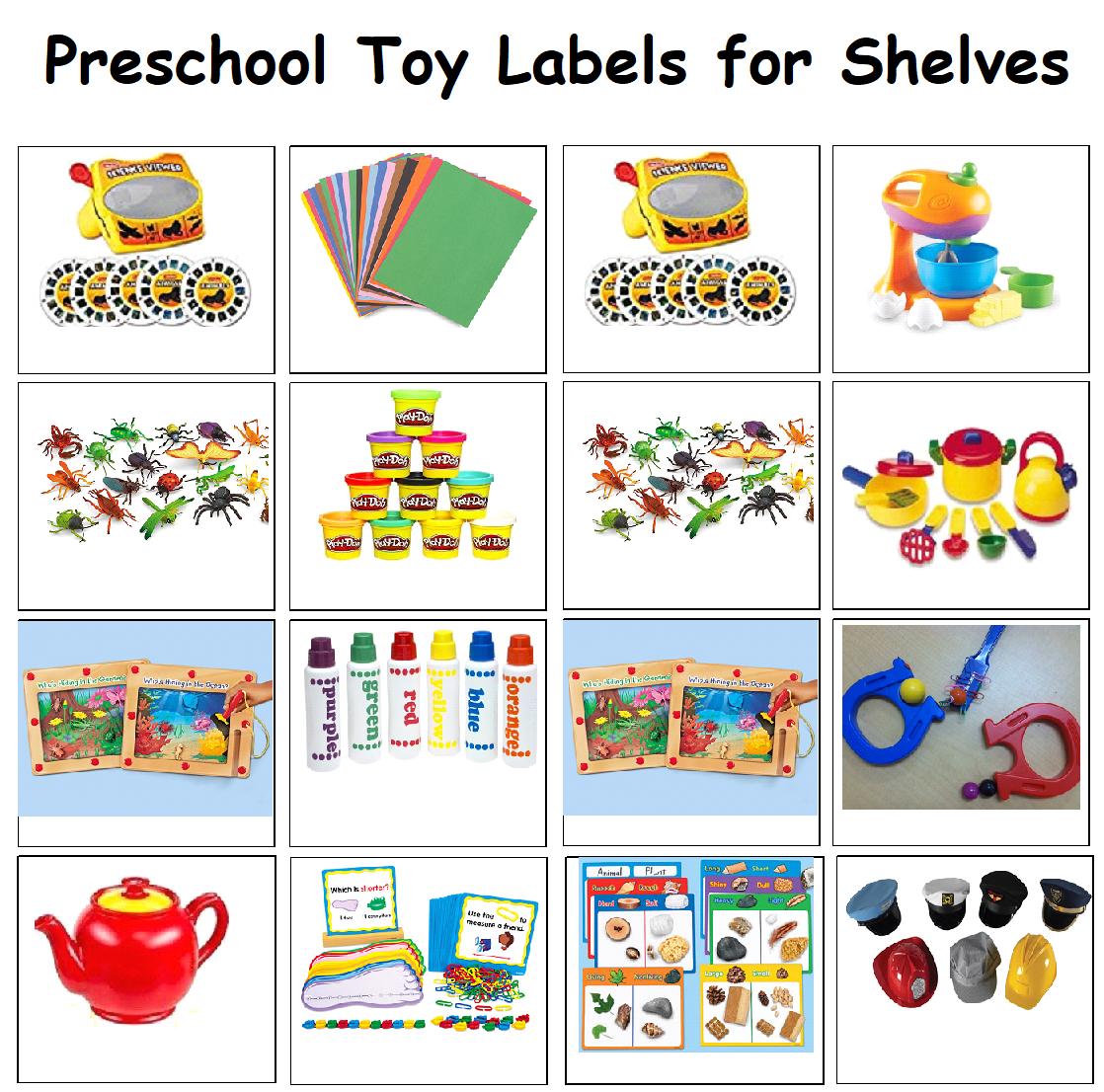 Preschool Classroom Labels for toy shelves | Classroom ...