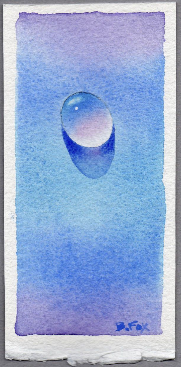 Water Drop Looks Simple But What A Challenge In Watercolor