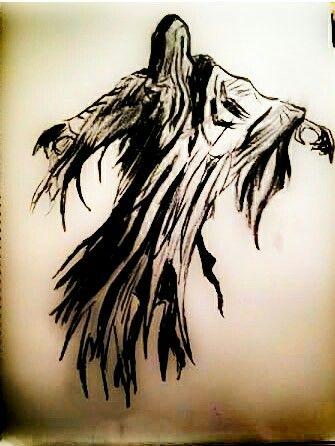 Harry Potter Dementor Art Zeichnen Bleistift