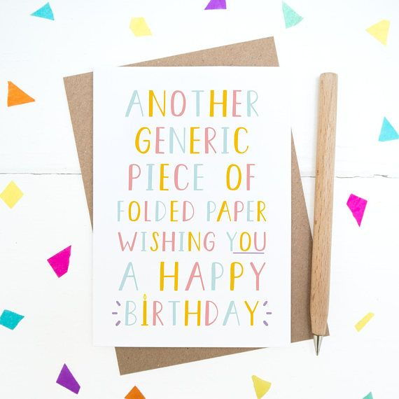 Generic Birthday Card Happy Birthday Oligatory Birthday Card