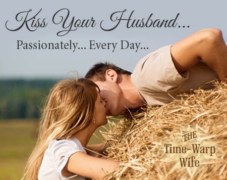 sometimes being married for a long time our kisses to our