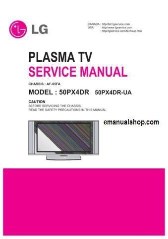 lg plasma tv service manual download