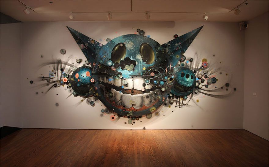 Jeff Soto - A Museum Let Street Artists Do Whatever They Want On Its Walls