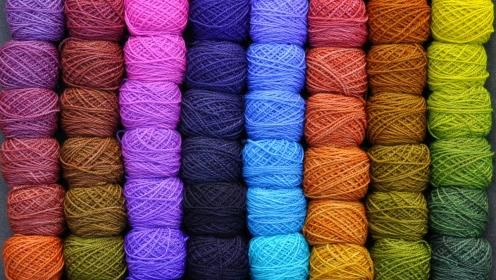Rainbow Yarn Wallpaper 88939 Hd Wallpapers Wallpapersinhq Com Yarn Colors Fabric Letters Yarn
