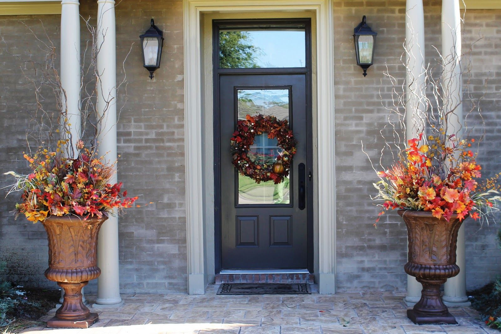 Ideas For Seasonal Decorating Front Porch Urns   Google Search