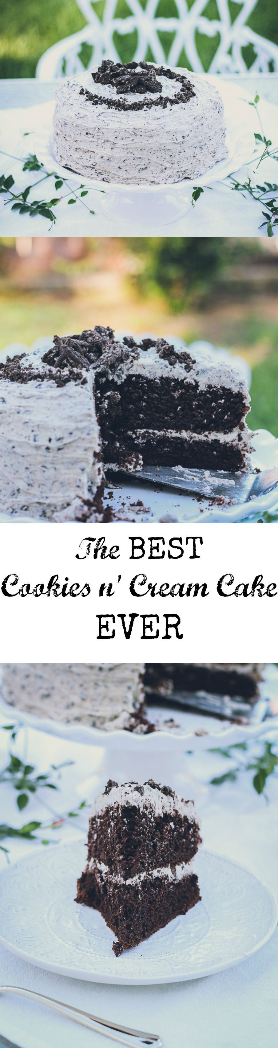 The Best Cookies & Cream Cake #cookiesandcreamfrosting