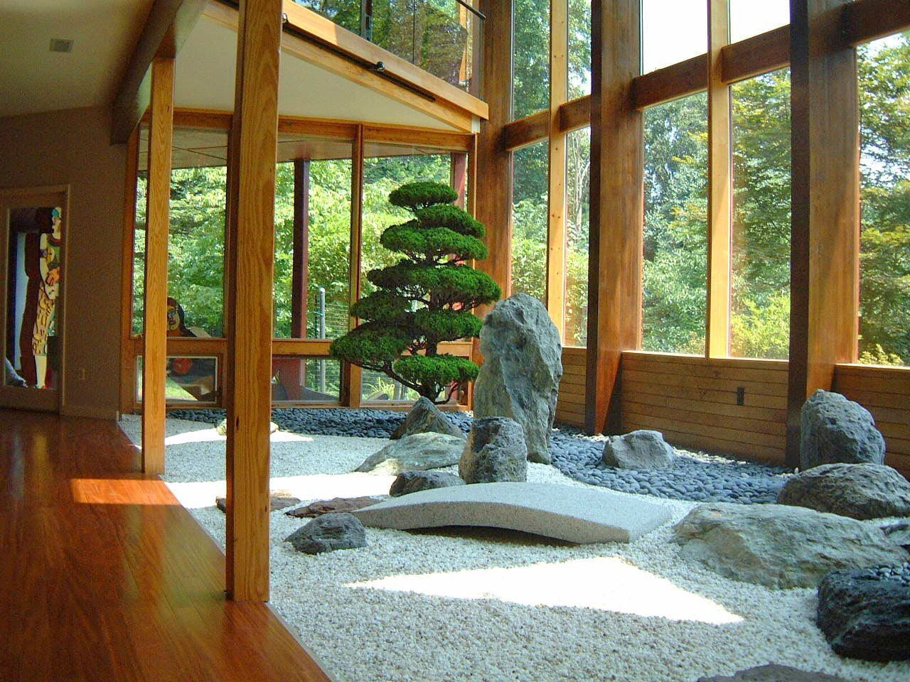Imagine This A Bonsai Display Garden Jardim Japones Paisagem