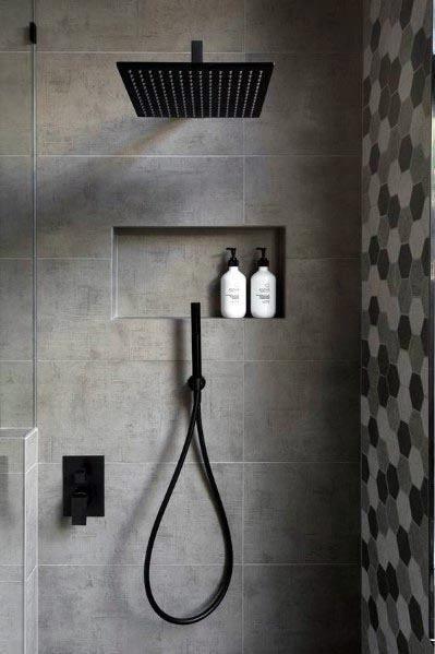 As 60 Melhores Ideias De Banheiros Cinza Inspiracao Para Design De Interiores Estilo Hom In 2020 Badezimmer Renovierungen Modernes Badezimmerdesign Badezimmer Grau