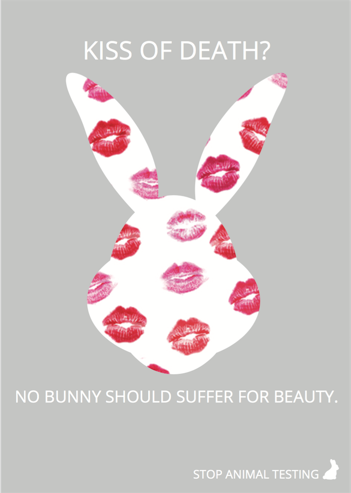 PSA poster project on Behance Cosmetic animal testing