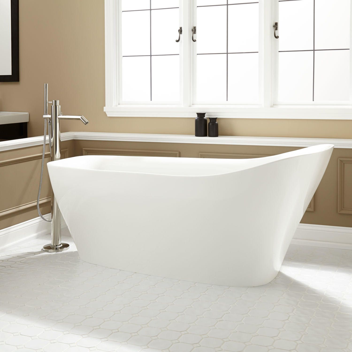 Vivien Acrylic Freestanding Slipper Tub | Freestanding tub, Tubs and ...