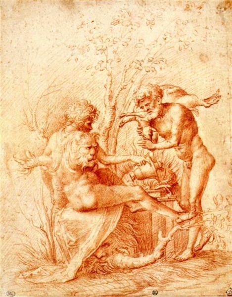 Molorchos making a sacrifice to Hercules, 1506 - Andrea Mantegna