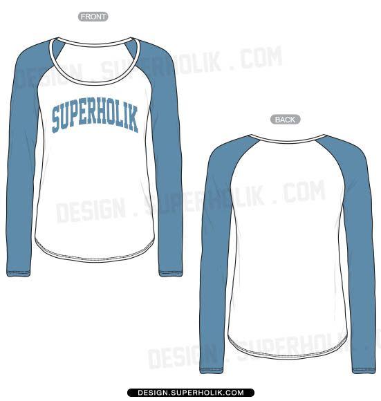 Download Raglan Tee Template Vector Template Flat Sketch Fashion Design Template Raglan Shirts Shirt Template