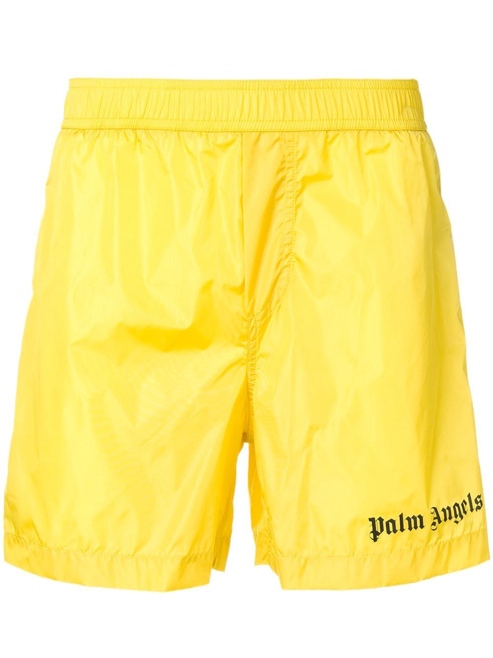 PALM ANGELS PALM ANGELS TRACK BOARD SHORTS YELLOW