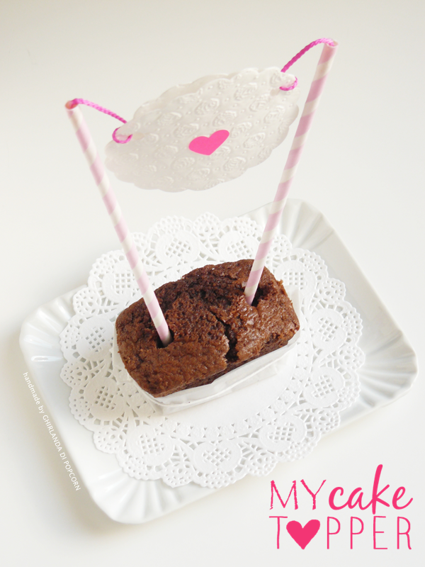 DIY: my cake topper with paper straw and paper doily #ghirlandadipopcorn