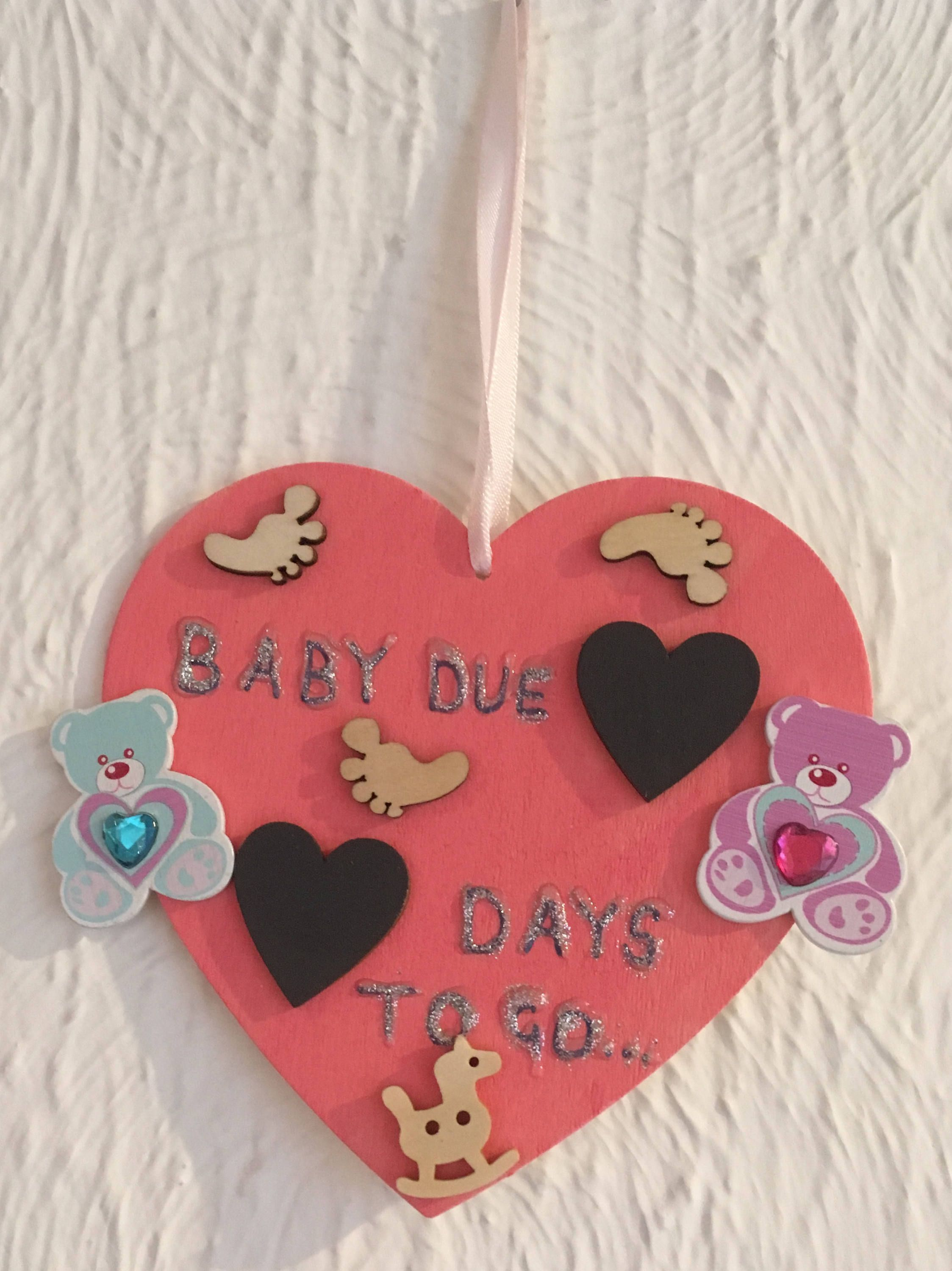 baby due date countdown baby record pregnancy tracker baby due date chalkboard