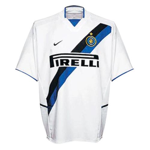 02 03 Inter Milan Away White Retro Jerseys Shirt Cheap Soccer Jerseys Shop Soccer Jersey Jersey Shirt Retro Shirts