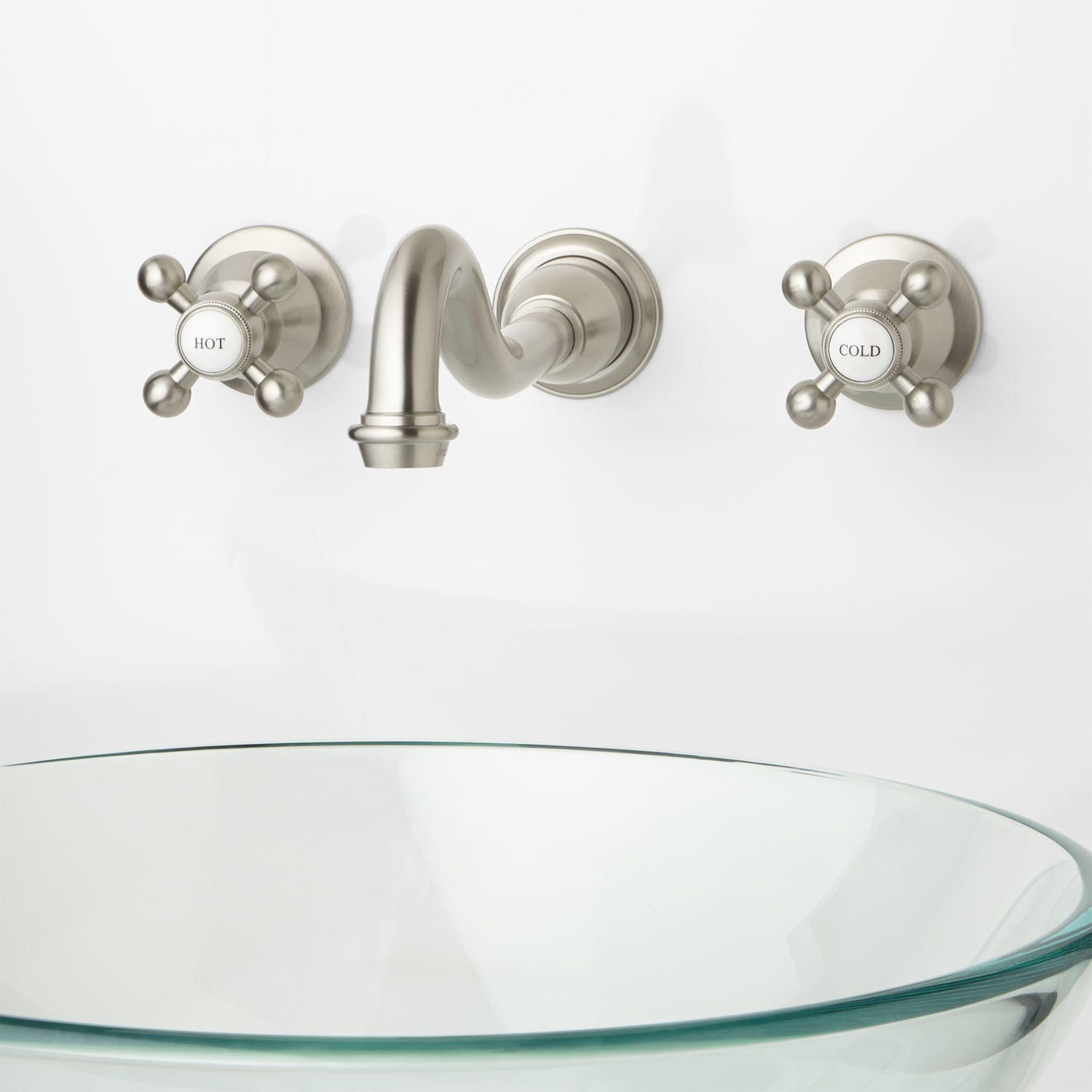 Reproduction Cross-Handle Sink Faucets | Faucet, Powder room and ...