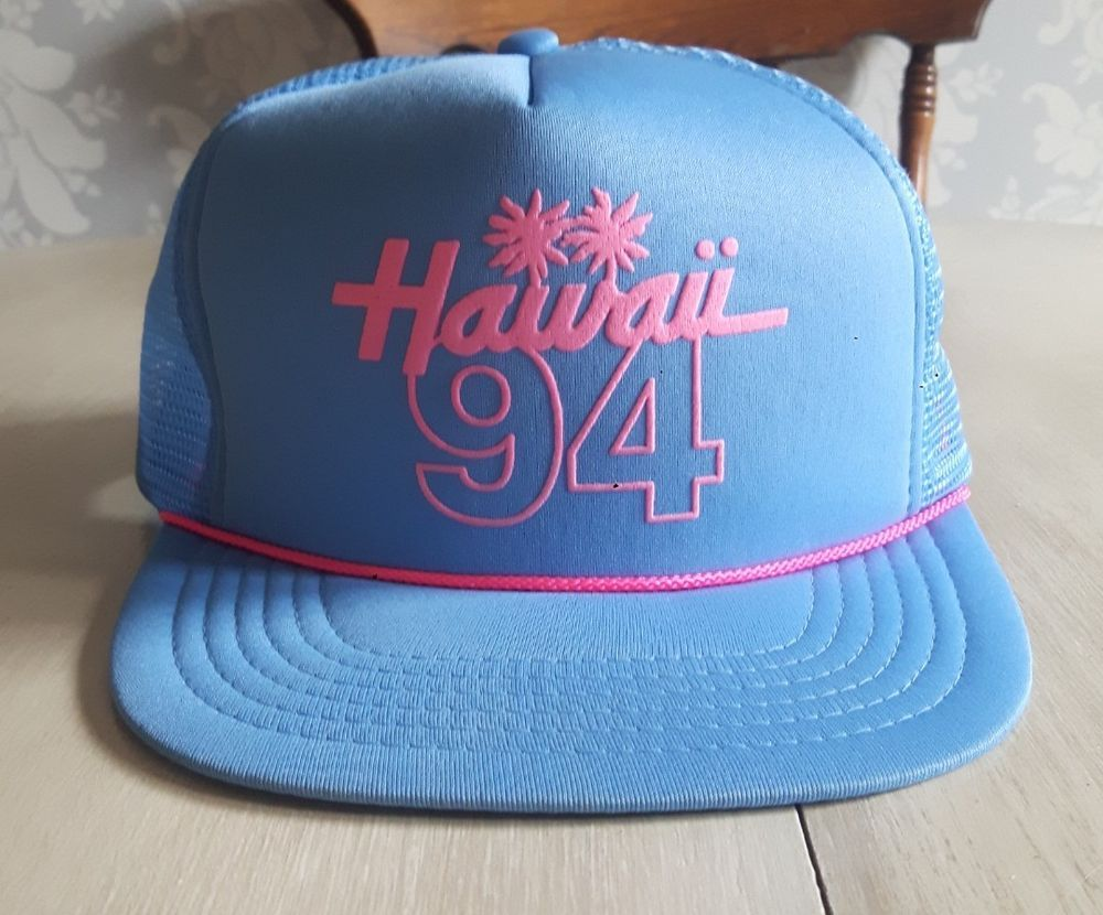bf55883865c Vintage hawaii trucker hat  vintage  truckerhat  Hawaii  90 s ...